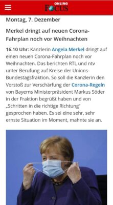 Merkel will mehr Maßnahmen