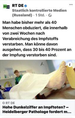 Obduktion Geimpfter
