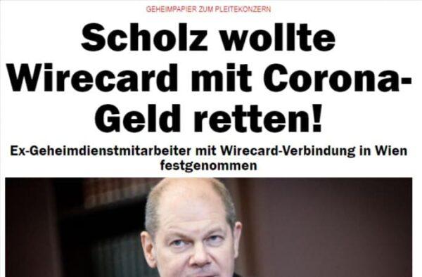 Scholz wollte Wirecard mit Corona-Geld retten